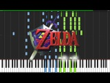 Gerudo Valley - The Legend of Zelda Ocarina of Time Piano Tutorial (Synthesia) AquareCover