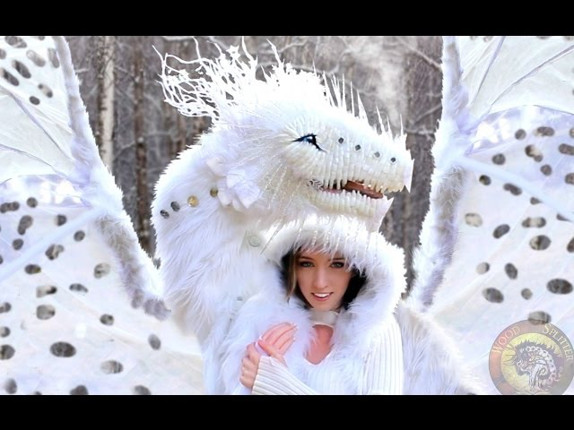 Blinking Life-Sized Winter Dragon! No Robotics, Woodsplitter Lee Cross