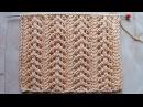 Ажурные дорожки елочкой Вязание спицами Видеоурок 243