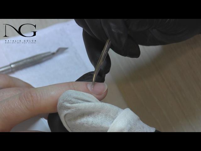 Как обрезать кутикулу одной полосочкой How to cut a strip of cuticle