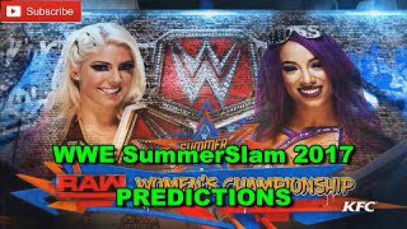 WWE SummerSlam 2017 Raw Women's Championship Alexa Bliss vs. Sasha Banks Predictions WWE 2K17