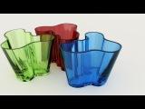 Стеклянные вазы Aalto  Как это сделано
