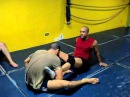 Counters to full mount foot lock and rear naked choke counters to full mount foot lock and rear naked choke