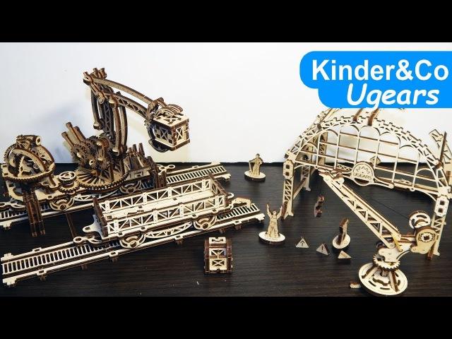 UGEARS Рельсовый манипулятор - Деревянный Конструктор сборка и обзор