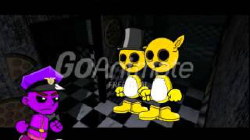 Caillou and Boris Get Stuffed into Golden Freddy and Springtrap Suits