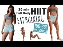20 min Fat Burning HIIT Cardio (BURN UP TO 360 CALORIES!!) | Full Body TABATA At Home Workout