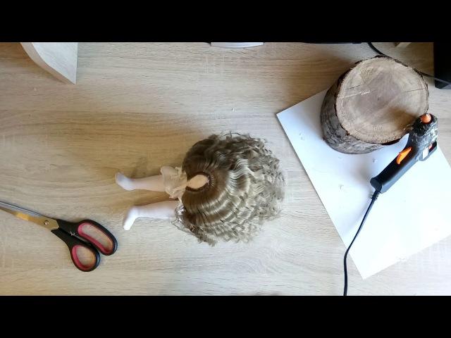 Быстрый способ крепления трессов к голове куклы