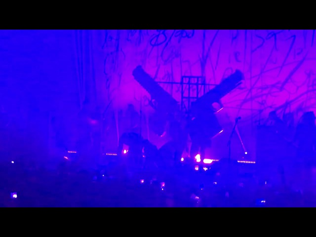 Prop falls on Marilyn Manson at NYC show at Hammerstein Ballroom