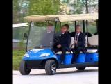 Владимир Путин подвез Сергея Собянина до парка Зарядье