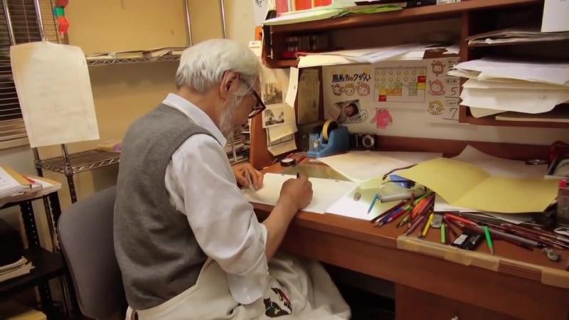 «Королевство снов и безумия» (2014). Хаяо Миядзаки за работой