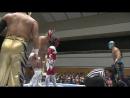 ACH, Kawato, KUSHIDA, Taguchi vs. Dragon Lee, Jushin Liger, Tiger Mask, Titan (NJPW - Road To Power Struggle 2017 - Day 3)