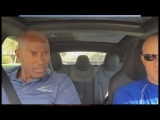 Приколы. Супер рывок авто Тесла P85D. Реакция людей.