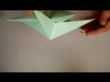 Объемная звезда из бумаги. Новогодние поделки оригами своими руками