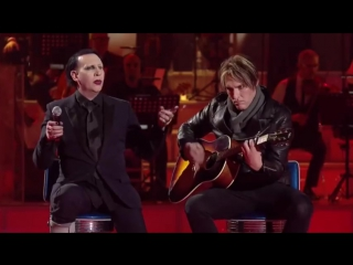 Marilyn Manson and Tyler Bates - Sweet Dreams [Live on italian TV show MUSIC]