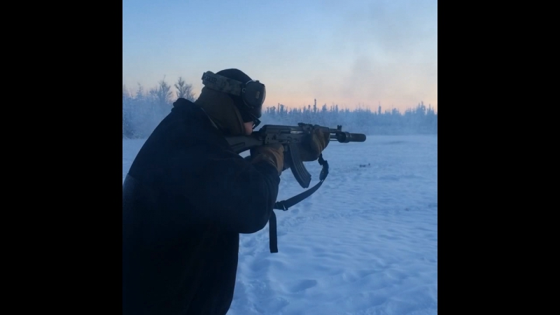 Wolverine PBS-1, AK-104 subsonic 7,62x39 at -28F