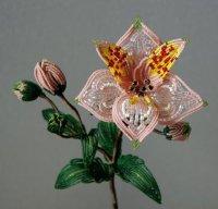 """Архив рубрики 'Цветы из бисера ...  """" Предыдущие записи. ... состоящую из двух веточек с."""