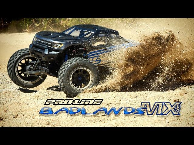 Pro-Line Badlands MX43 Pro-Loc Tires Impulse Pro-Loc Wheels for X-MAXX