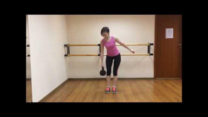 Тренировка с гирей для начинающих. Занятие 2
