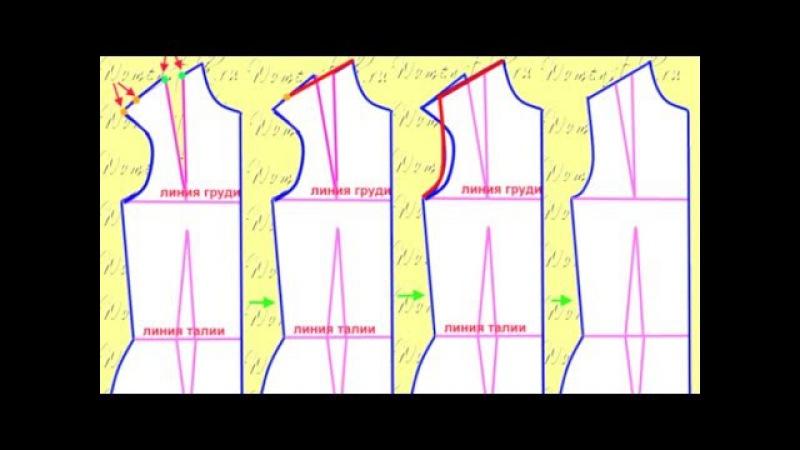 Построение вытачек/Основа выкройки платья