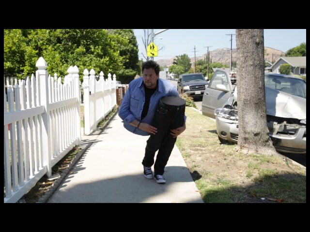 Andy Gross SplitMan is Back / Magician Cut in Half Car Crash Prank! Don't Text and Drive