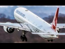 BOEING 777 super close-up LANDING and DEPARTURE 4K