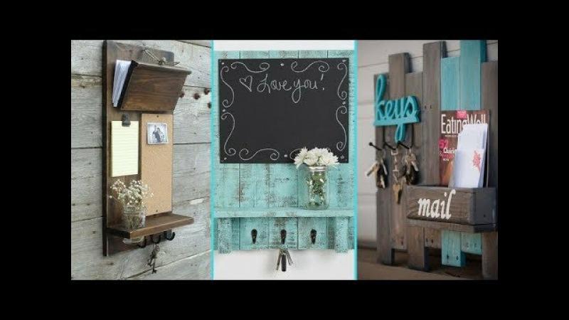 ❤ DIY Shabby Chic Style Entryway Mail Key Organizer Ideas ❤ | Home decor Ideas | Flamingo Mango