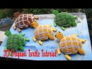 HOW TO MAKE 3D ORIGAMI TURTLE | DIY PAPER TURTLE TUTORIAL