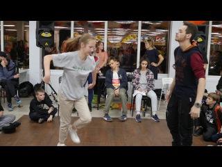 Hip-Hop Beginners Нико vs Нелли Метр с кепкой dance battle