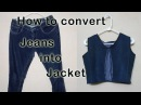 How to make Jacket / coat with Old Jeans   DIY   Niya Kumar