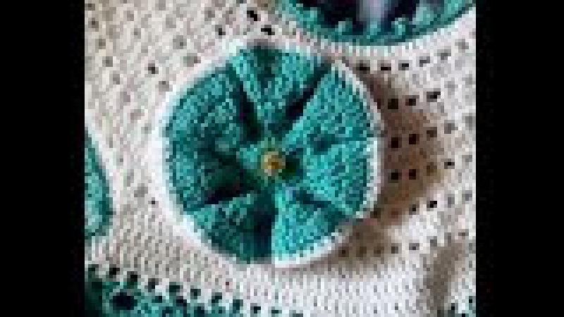 Цветок крючком, вязание для начинающих.Crochet flower, knitting patterns for beginners.