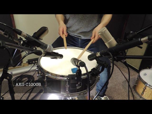 "Sonor S Classix Birch 14""x5,5"" test microphone shure, akg, rode, sennheiser, oktava"