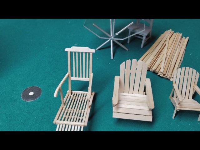 Dollhouse Adirondack Chair