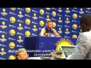 STEPHEN CURRY, GSWMediaDay: Casspi, Nick Young, White House, Trump, Ayesha, Kyrie, Durant/Nike/UA