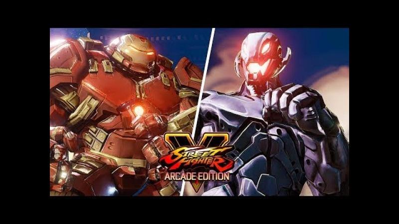 Street Fighter 5 AE - HULKBUSTER vs ULTRON (Marvel) Gameplay PC Mod @ 1080p (60ᶠᵖˢ) HD ✔