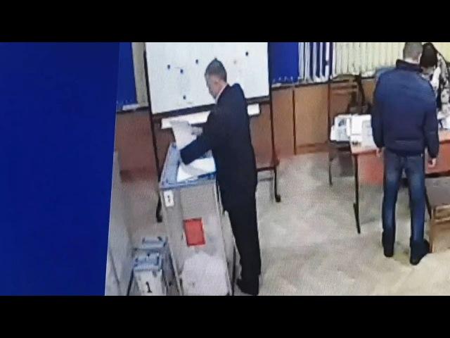 Вброс бюллетеней на участке № 611 в Волгограде