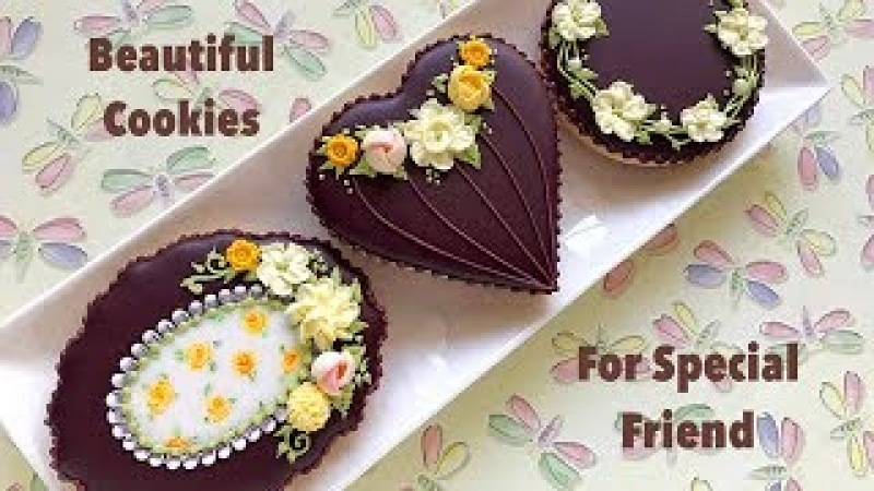 How to decorate floral cookies Beautiful Cookies for Special Friend🌼