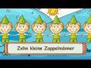 Zehn kleine Zappelmänner Fingerspiellieder zum Mitsingen Kinderlieder