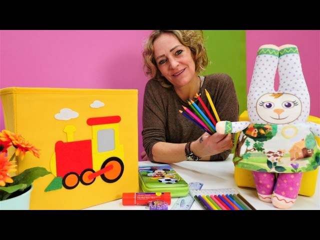 Die Wunderbox Schulsachen für Bunny Spielzeugvideo für Kinder