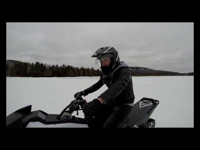Taiga TS2 Electric Snowmobile - Electreks Test ride