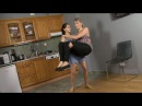 Tall and Short Girl Lifting And Carrying Each Other