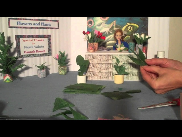How to Make Doll Pot Plants - Doll Crafts
