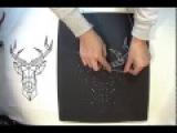 String Art ou art de la ficelle - Tableau cerf minimaliste
