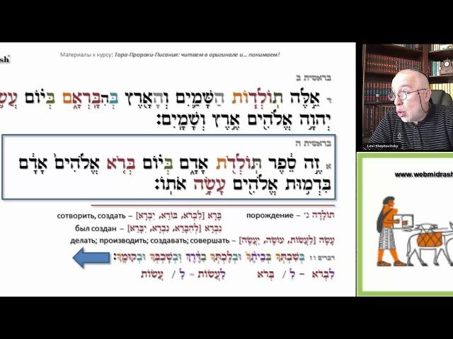 Библейский Иврит для начинающих Урок 7 Книга Бытие 2 4 5