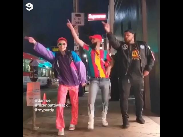 "9GAG: Go Fun The World on Instagram: ""When you run into your BFFs 🤣🕺🏻🕺🏻🕺🏻 🎥 @danrue @roypurdy @nicknpattiwhack_ - 9gag dance groove bestfriend..."