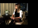 Jennifer Aniston Sexy In Sheer Fishnet Tights Ultra Short Skirt During Office Party Interview