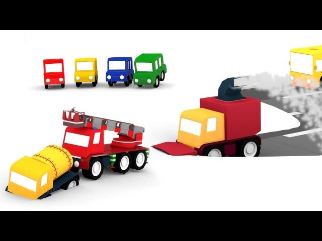 Cartoni animati per bambini - Le macchinine colorate e lo spazzaneve a turbina