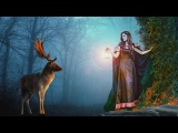 Girl in forest photo manipulation photoshop tutorial