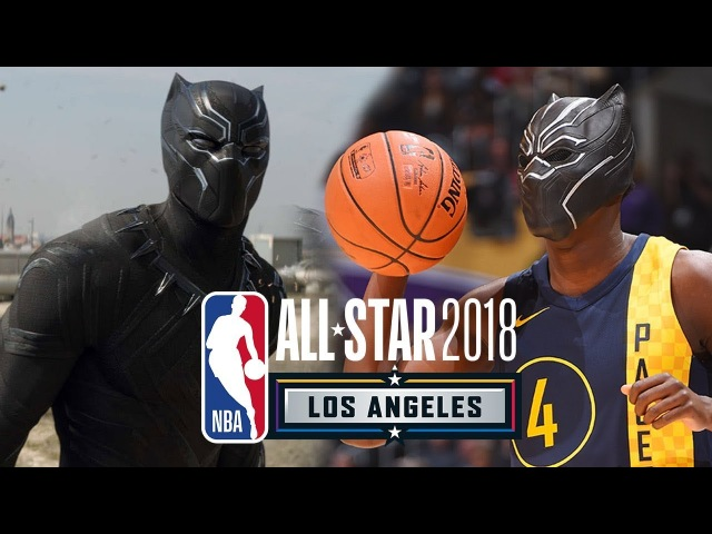Victor Oladipo Did a 'Black Panther' Dunk With Chadwick Boseman's Help   2018 NBA All-Star