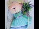вязание,вязание платья,мастер-класс платья, платье вязаное крючком для зайки ча ...