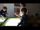 Волшебный песок. Учимся рисовать песком на световом планшете. Никите 2,5 года.